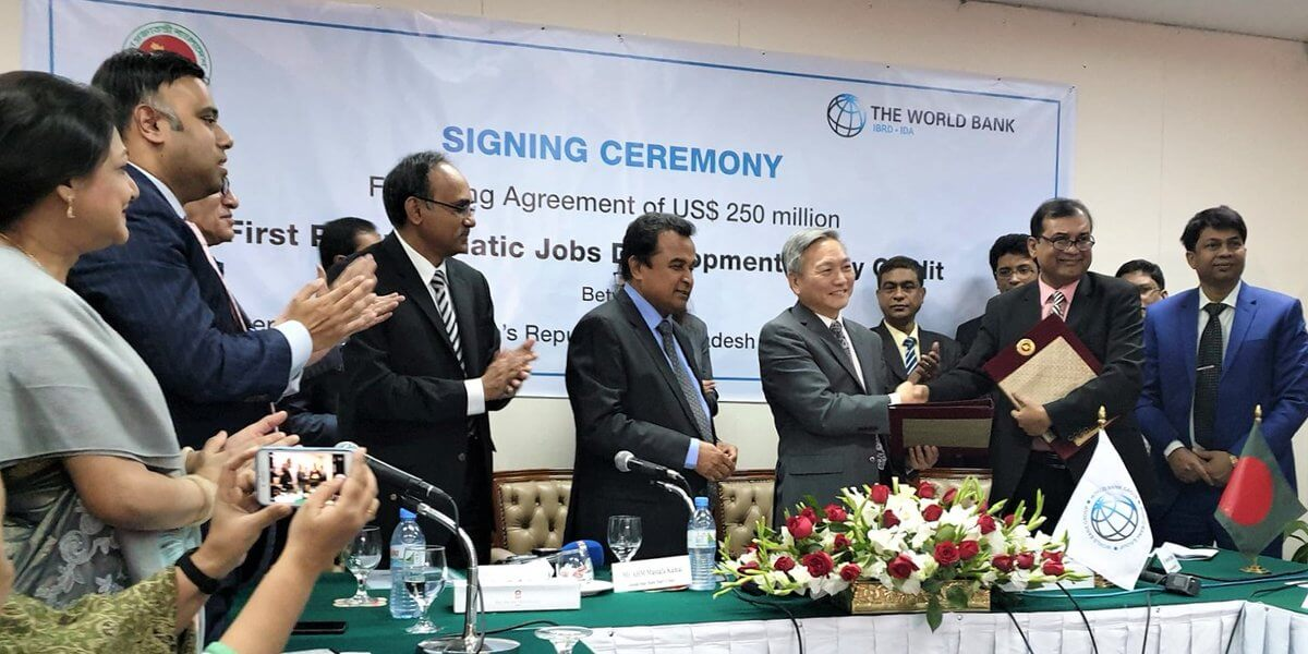 Bangladesh signs $250 million deal with World Bank to generate jobs