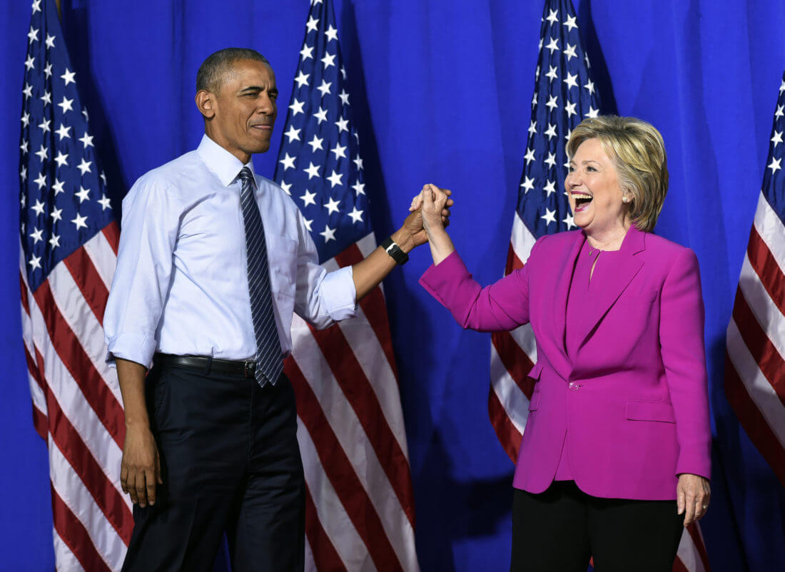 Barrack Obama and Hillary Clinton Campaign