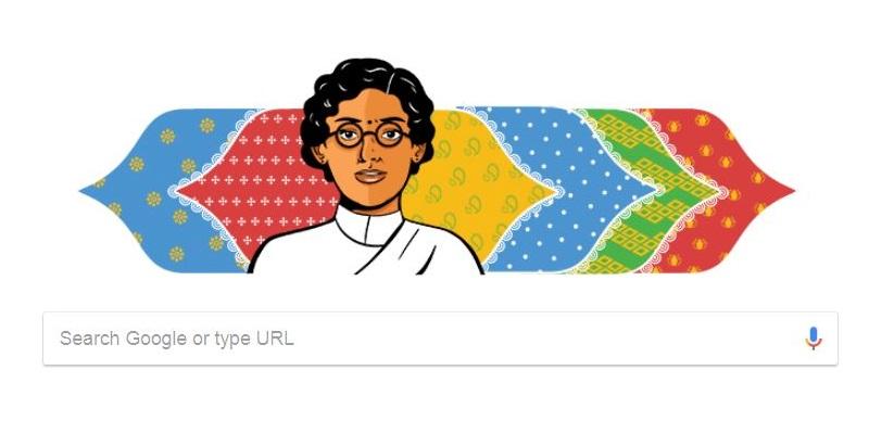 Google Doodle honours Anasuya Sarabhai