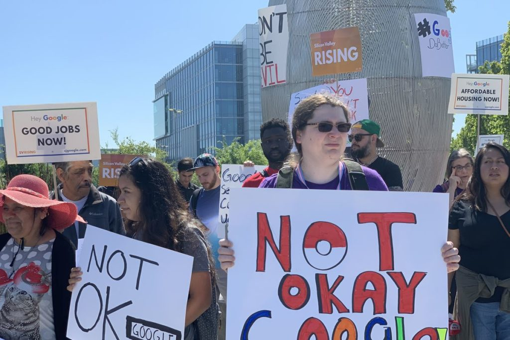 Google Employees Protest With The Investors At The Shareholders Meeting
