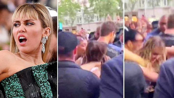 Miley Cyrus Forcibly Kissed And Groped By Fan In Scary Video