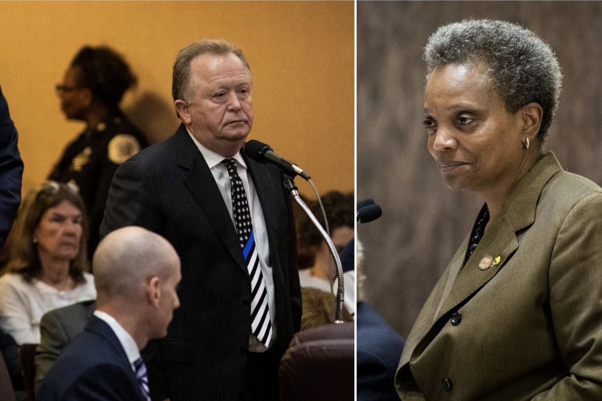 Chicago Mayor Lori Lightfoot involved on mic calling police union leader a 'clown
