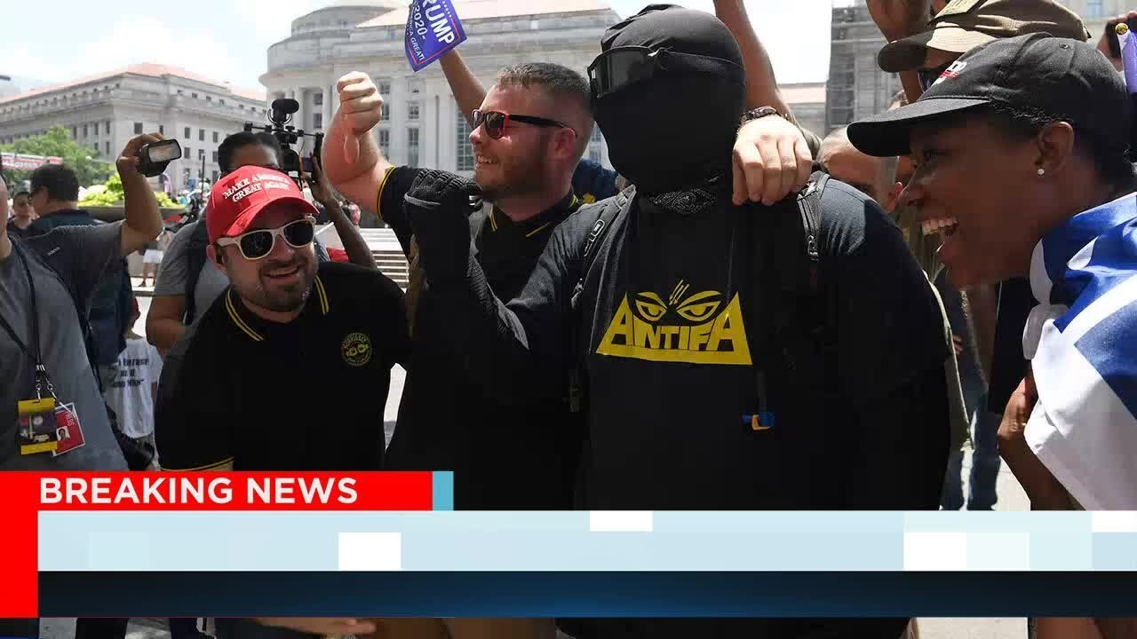 """""""Demand Free Speech"""" Disrupted By Antifa - Reports Says Protestors Took The Protest To The Roads"""