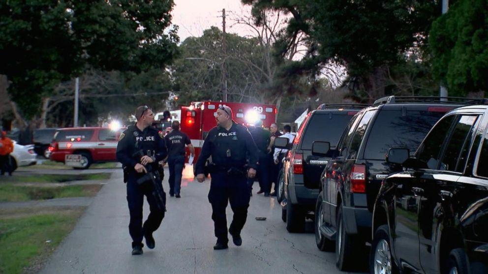 Houston police officer near Democrat debate shot