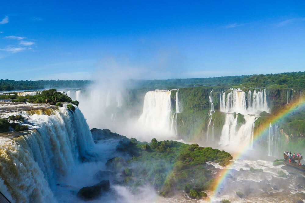Feel small before the power of the Iguazu Falls, Argentina-Brazil