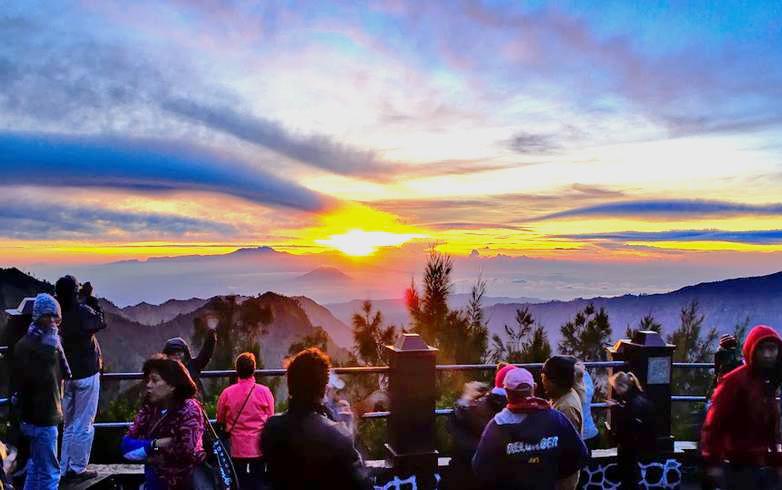See a sunrise on Mount Bromo, Indonesia