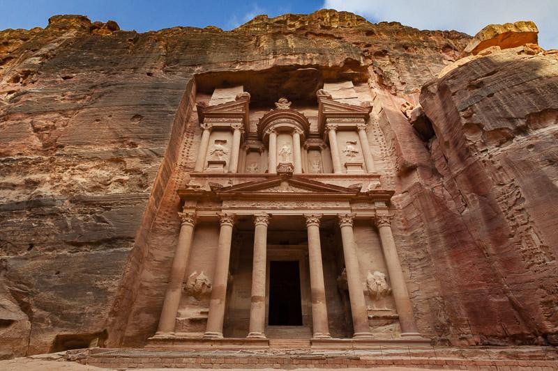Wander among the temples at Petra, Jordan