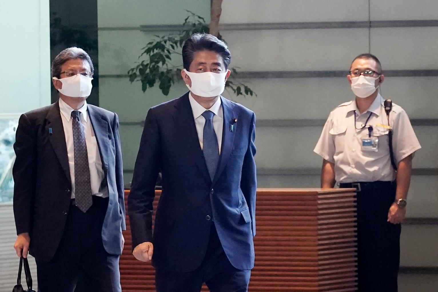 Japanese PM Abe resigned