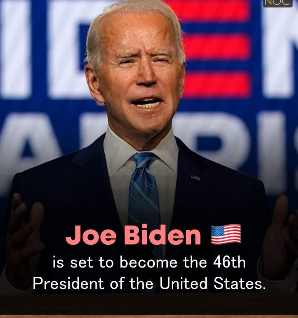 Joe Biden is Set to Become the 46th President of the United States